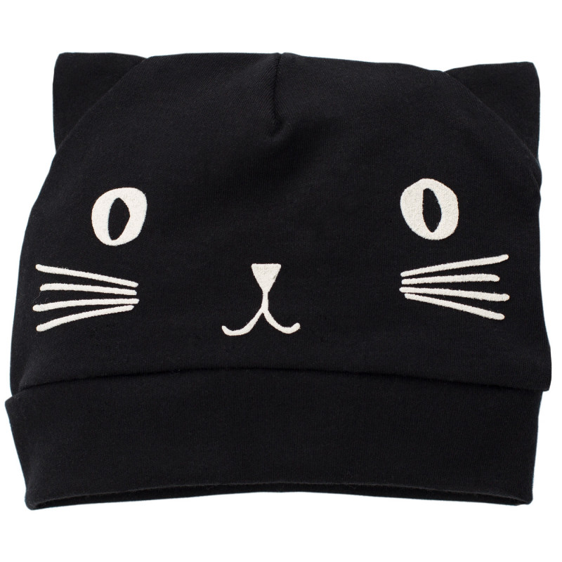 Памучна шапка коте за бебе с ушички - унисекс  738