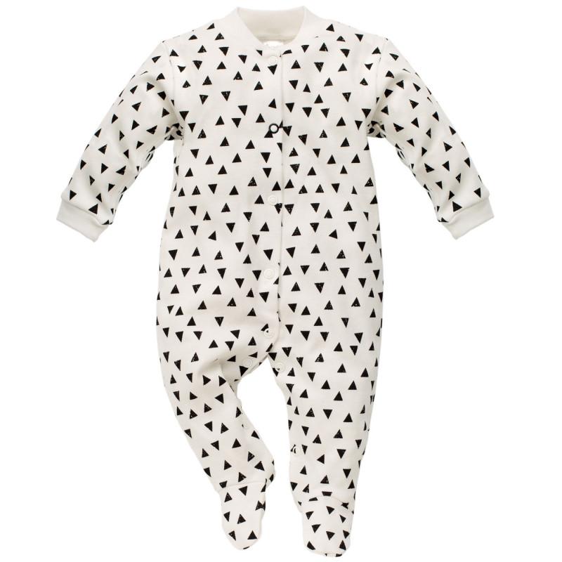 Памучен гащеризон с графичен принт за бебе  742