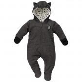 Памучен космонавт с качулка и ръкавички за бебе - унисекс Pinokio 743