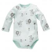Памучно боди с дълъг ръкав за бебе - унисекс Pinokio 755