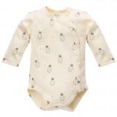 Памучно боди с дълъг ръкав за бебе - унисекс Pinokio 756