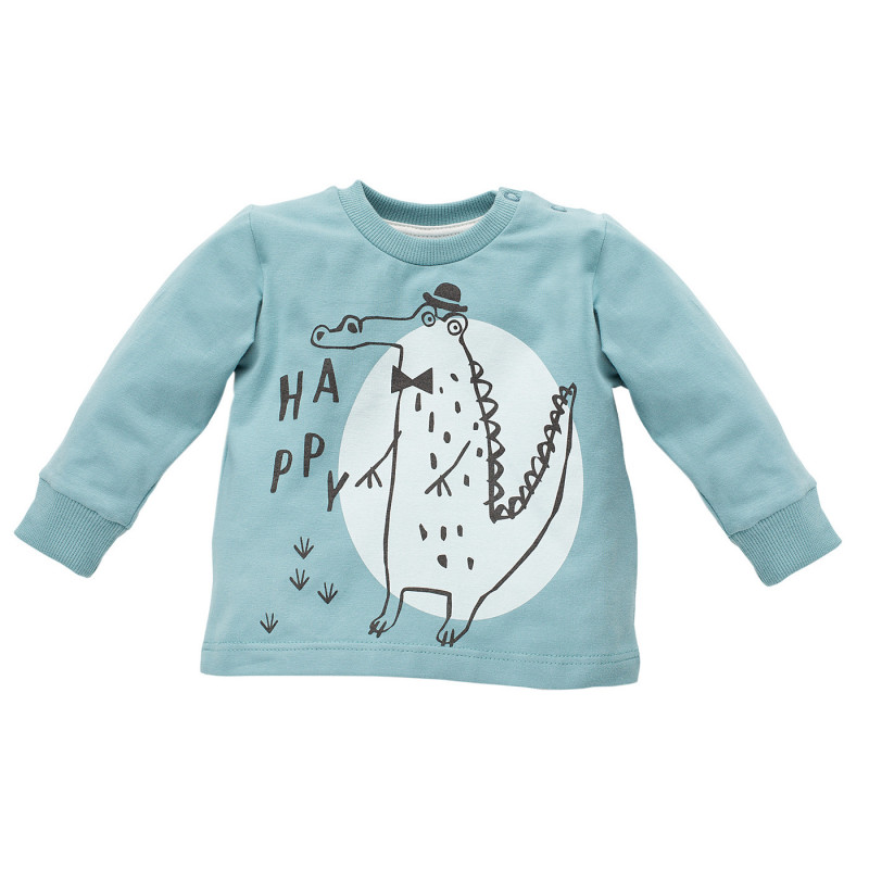 Памучна блуза с дълъг ръкав за бебе - унисекс  770