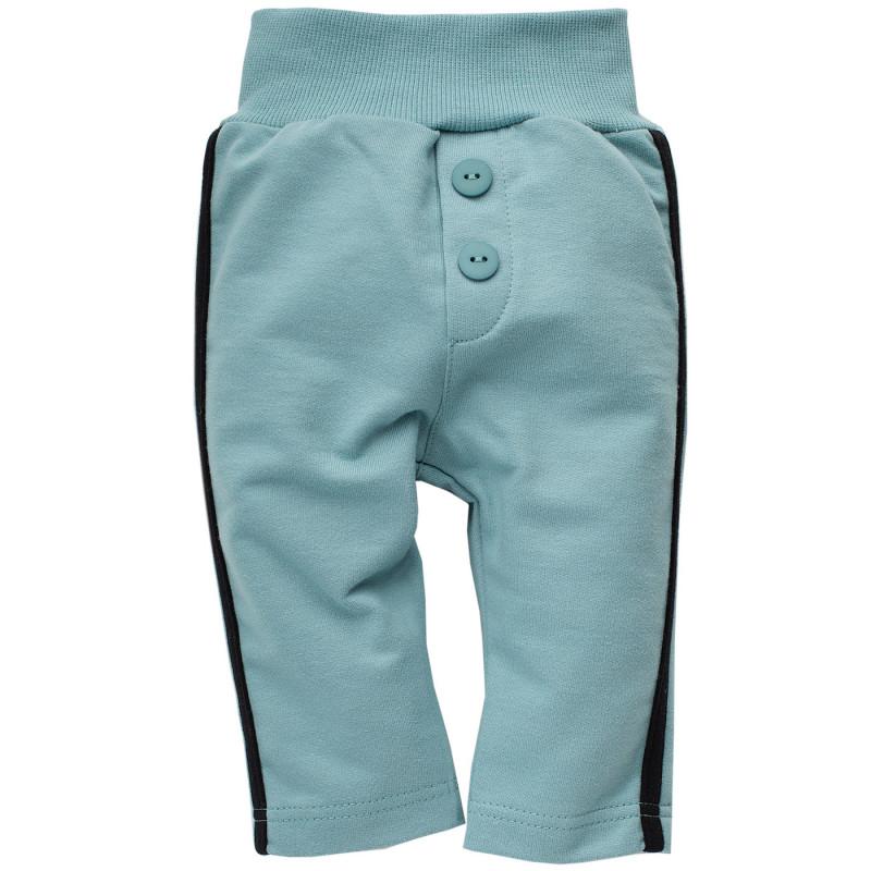 Памучен панталон с черен кант за бебе  771