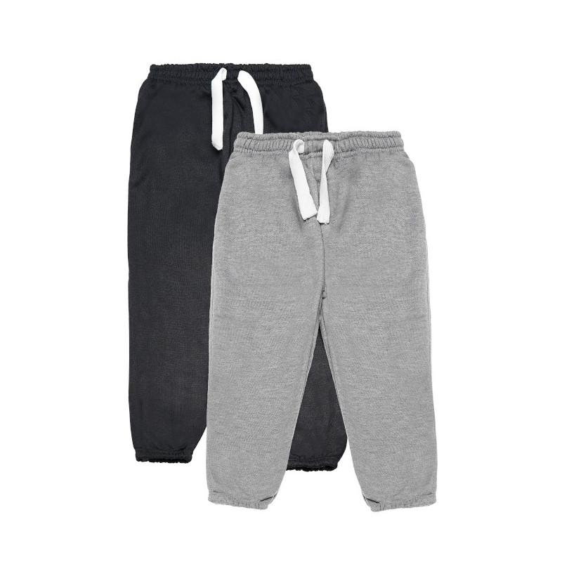 2 броя удобни спортни  панталони, сив и черен  77104