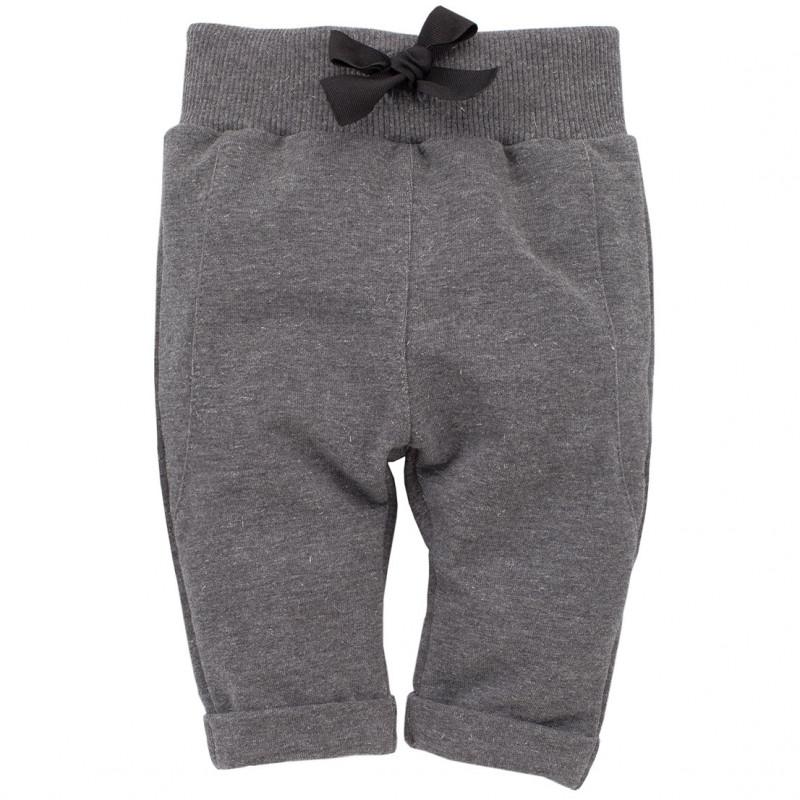 Панталон със сребристи нишки за бебе за момиче сив  783