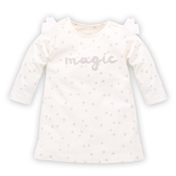 Памучна рокля с дълъг ръкав за бебе Pinokio 784
