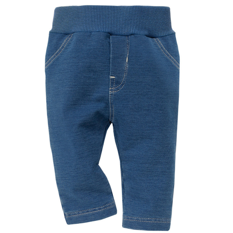 Памучен панталон с широк ластик - унисекс  800