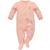 Памучен гащеризон с дълъг ръкав за бебе момиче Pinokio 810