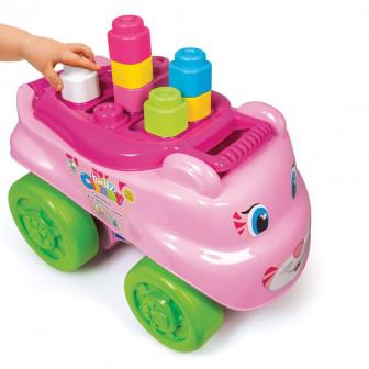 Clemmy конструктор в кутия за бутане - розово коте CLEMENTONI 8127