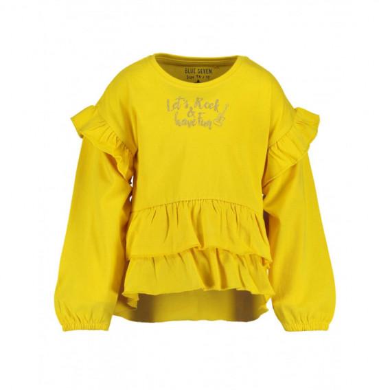 Памучна блуза с дълъг ръкав за момиче BLUE SEVEN 81481