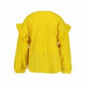 Памучна блуза с дълъг ръкав за момиче BLUE SEVEN 81482 2