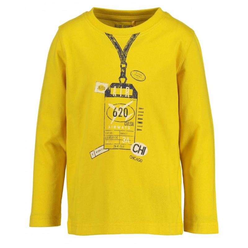 Памучна блуза с дълъг ръкав за момче  81499
