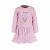 Памучна рокля с дълъг ръкав за бебе момиче BLUE SEVEN 81517