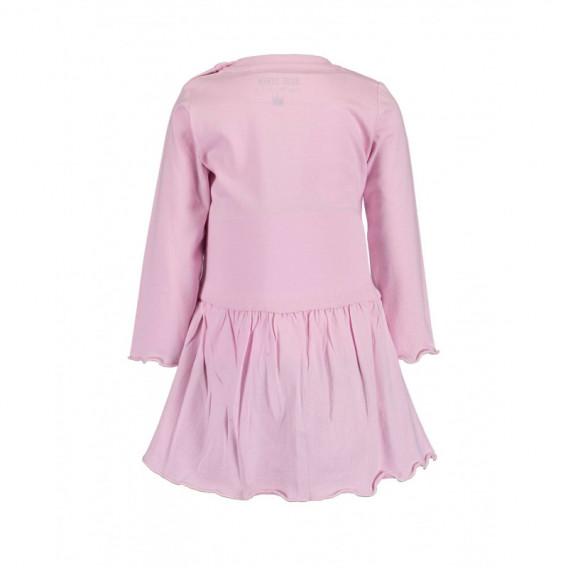 Памучна рокля с дълъг ръкав за бебе момиче BLUE SEVEN 81518 2