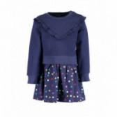 Памучна рокля с дълъг ръкав за бебе момиче BLUE SEVEN 81521