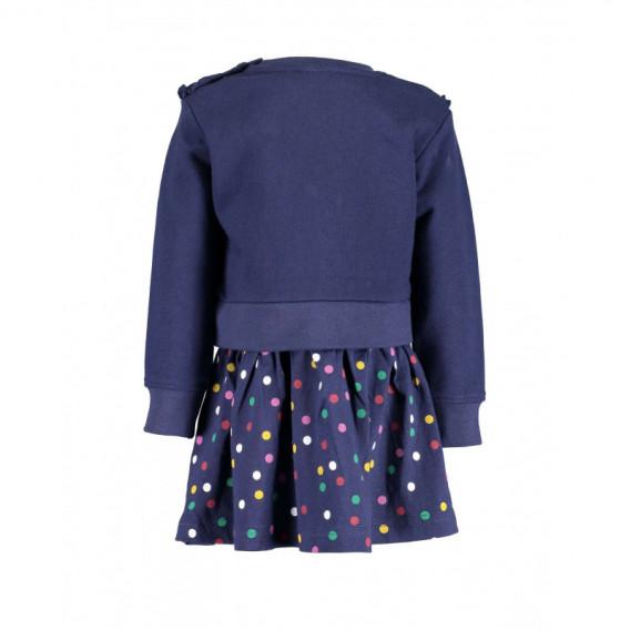 Памучна рокля с дълъг ръкав за бебе момиче BLUE SEVEN 81522 2