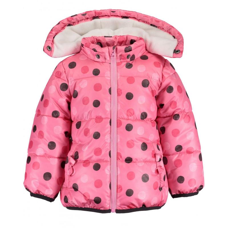Яке за бебе за момиче розово на кръгчета  81535