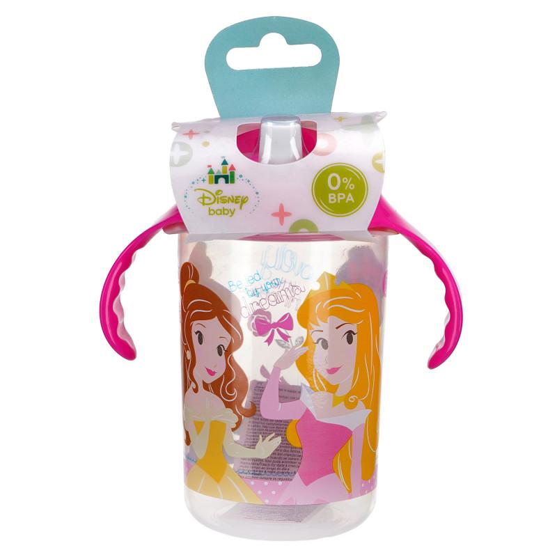 Чаша с розови дръжки и накрайник за пиене, 10+ м., с картинка little princess  81755