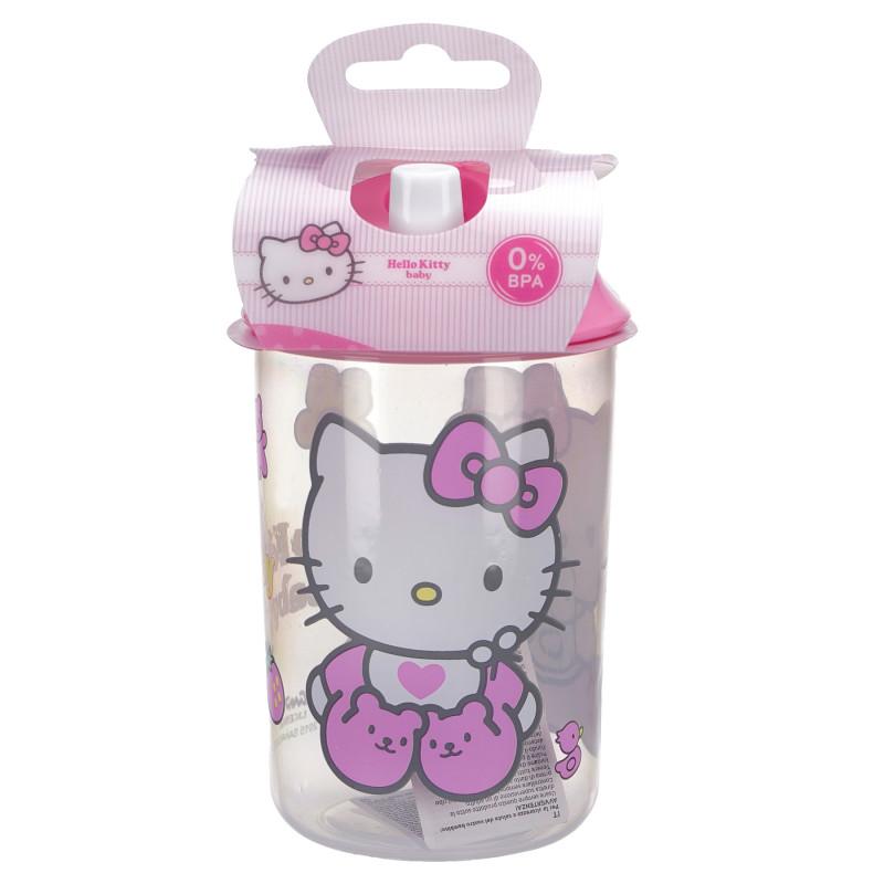 Чаша с накрайник за пиене и с картинка hello kitty  81757