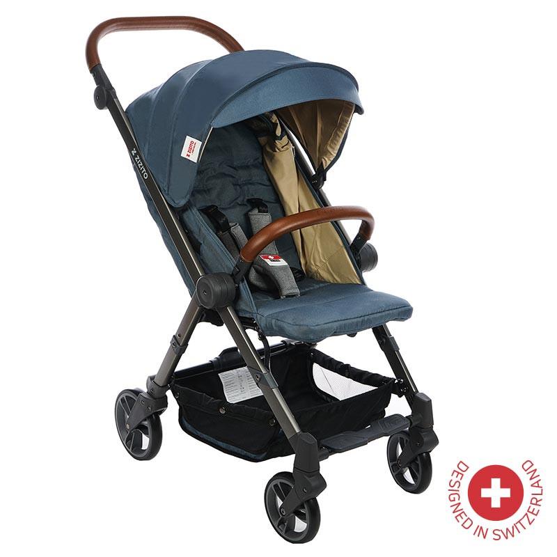 Детска количка BIANCHI с швейцарска конструкция и дизайн, синя  81880