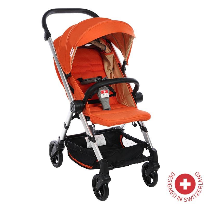 Детска количка BIANCHI с швейцарска конструкция и дизайн, оранжева  81881