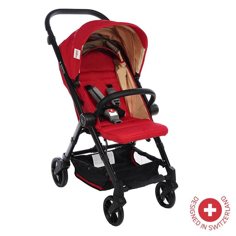 Детска количка BIANCHI с швейцарска конструкция и дизайн, червена  81883