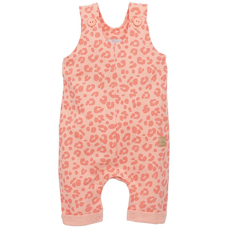 Памучен гащеризон без ръкави с анимал принт за бебе момиче  822