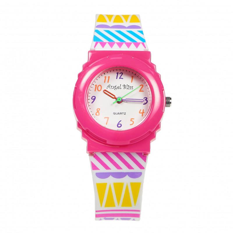 Спортен часовник за момиче тъмно розов  82209