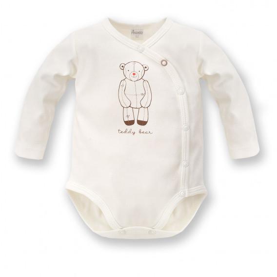 Памучно боди с дълъг ръкав за бебе - унисекс Pinokio 824