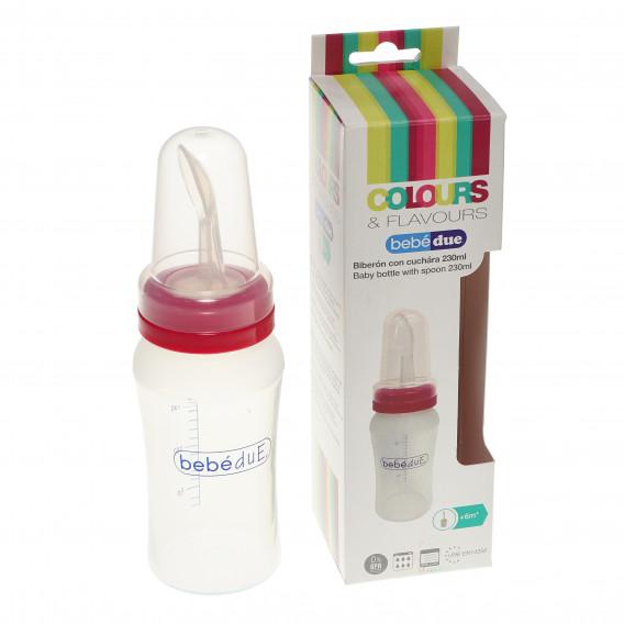 Бебешка бутилка с лъжица BebeDue 82433 5