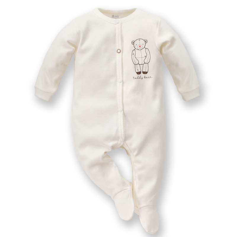 Памучен гащеризон с весел принт за бебе - унисекс  827