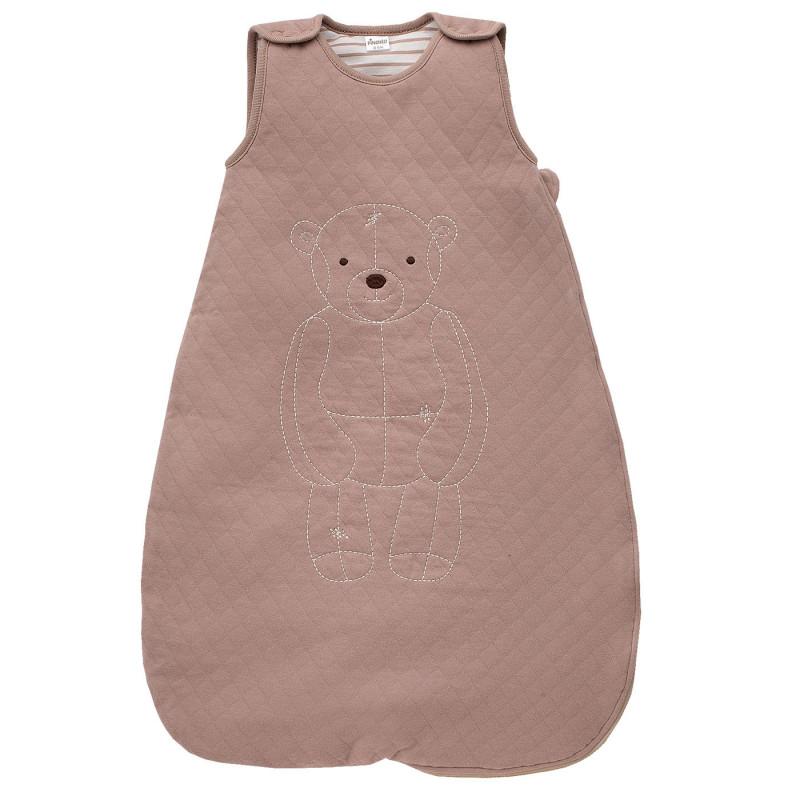 Памучен спален чувал за бебе - унисекс, цвят: Кафяв  829