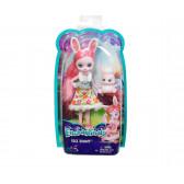 Енчантималс - кукла брий бъни и зайчето туист Mattel 8295