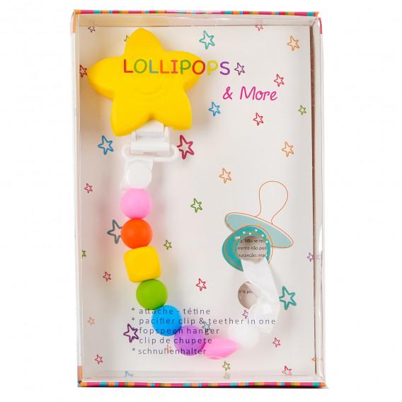 """Клипс за биберон """"lollipops and more"""" в наситени цветове Lollipops &More 83308 2"""