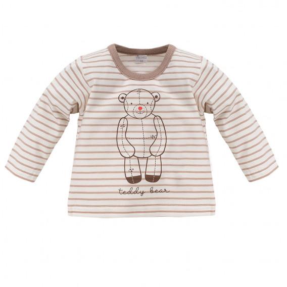 Памучна блуза с дълъг ръкав за бебе - унисекс Pinokio 834