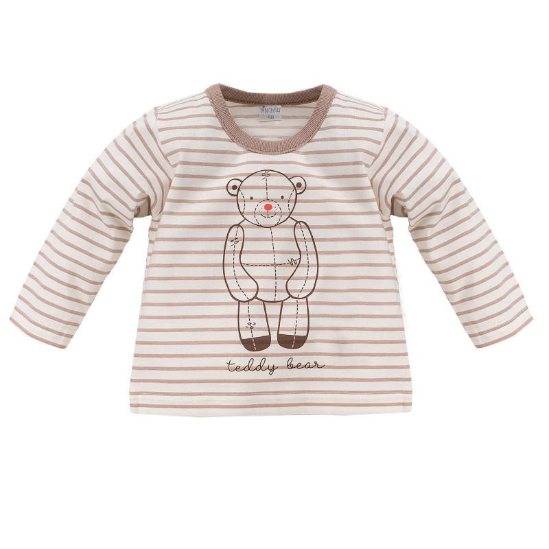 Памучна блуза с дълъг ръкав за бебе - унисекс  834