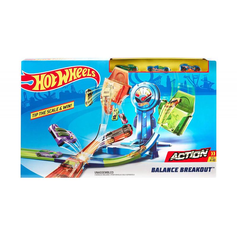 Игрален комплект Hot Wheels опасна надпревара, подходящ за момче  8349