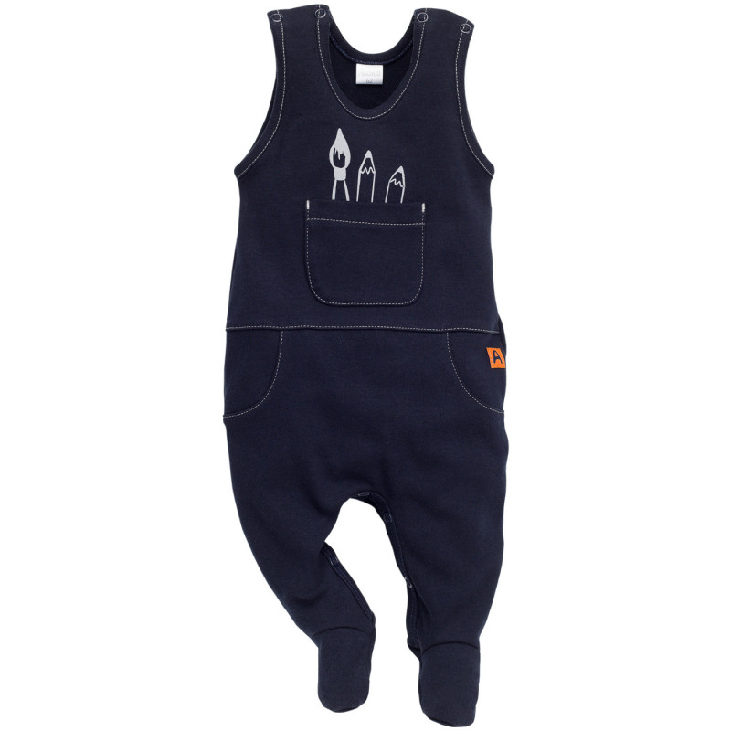 Памучен гащеризон за бебе - унисекс  848