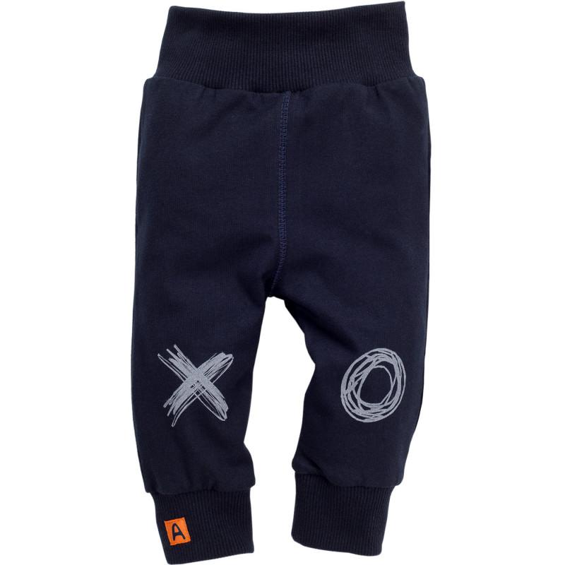 Панталон с принт и малка апликация за бебе - унисекс  852