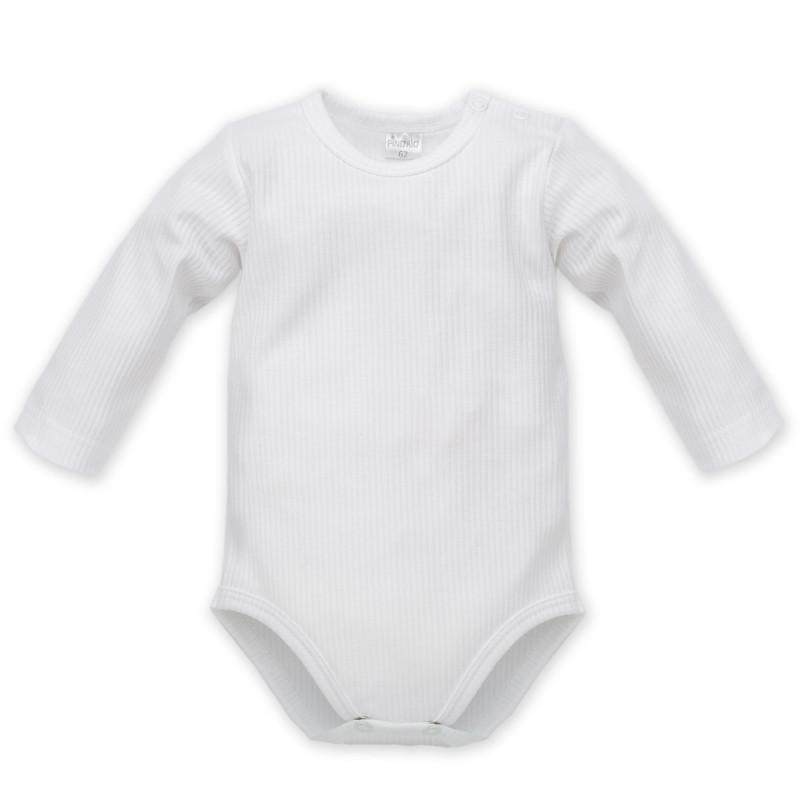 Памучно боди с дълъг ръкав и тик-так копчета за бебе - унисекс  856