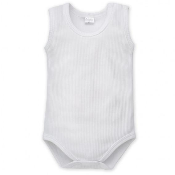 Памучно боди без ръкав за бебе - унисекс Pinokio 857
