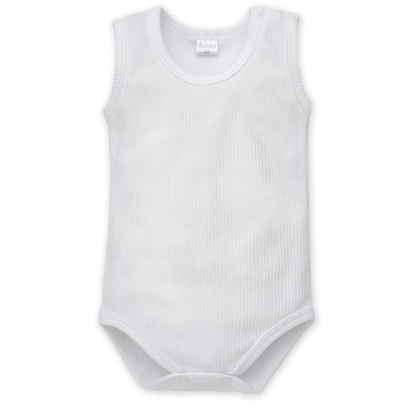 Памучно боди без ръкав за бебе - унисекс  857