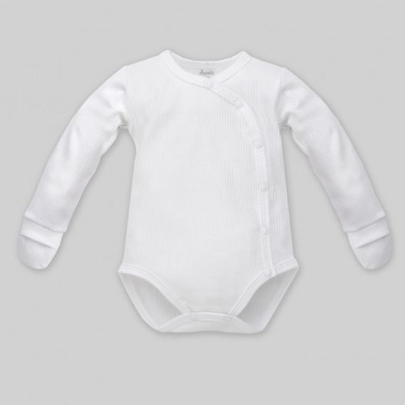 Памучно боди с дълъг ръкав за бебе - унисекс Pinokio 860