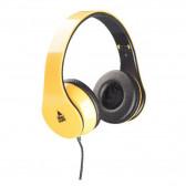 Стерео слушалки жълти music...