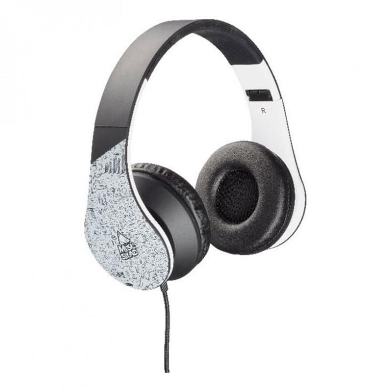 Стерео слушалки music sound fan 8 sil/blk  8615