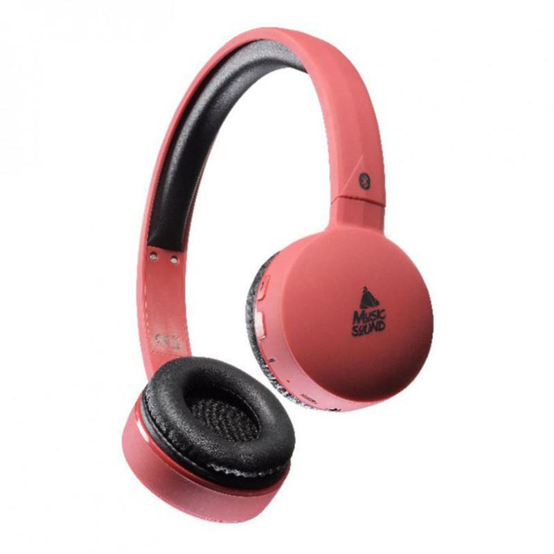 Стерео слушалки music sound bt red  8617