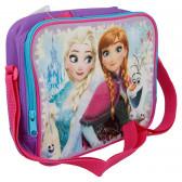 Термоизолираща чанта с каишка и картинка Frozen 8660