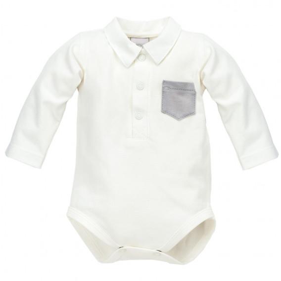 Памучно боди с дълъг ръкав за бебе момче Pinokio 870