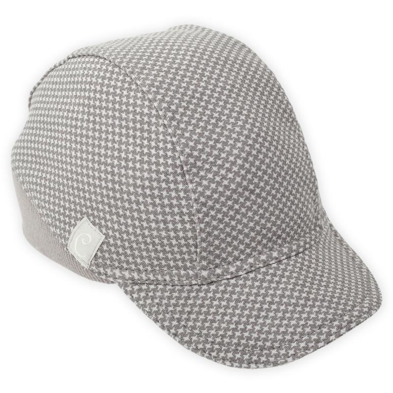 Памучна шапка с козирка за бебе момче  876