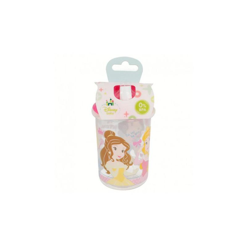 Чаша с розов накрайник за пиене и с картинка little princess  8806